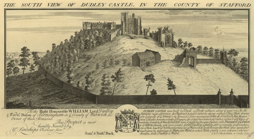 Picture Picture of the South view of Dudley Castle in the County of Stafford