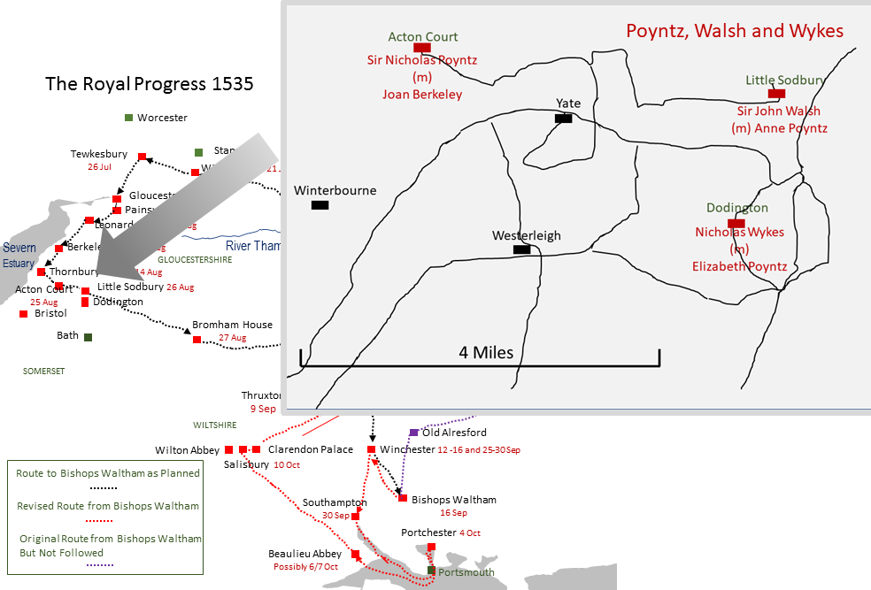 Picture Map of 1535 Progress, the Poyntz Set