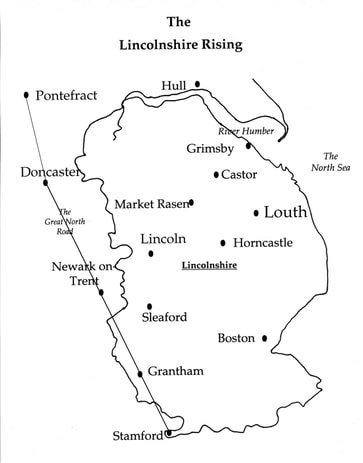 Picture Map of Lincolshire and Yorkshire